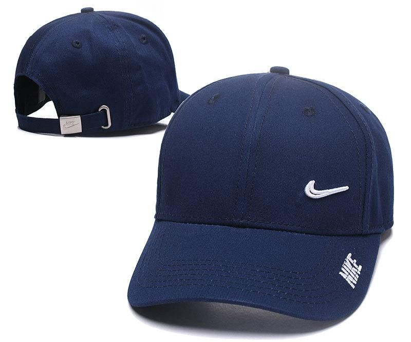 05807f02900f2 ... coupon code for mens womens nike small swoosh logo curved dad hat navy  white 60d82 c073d