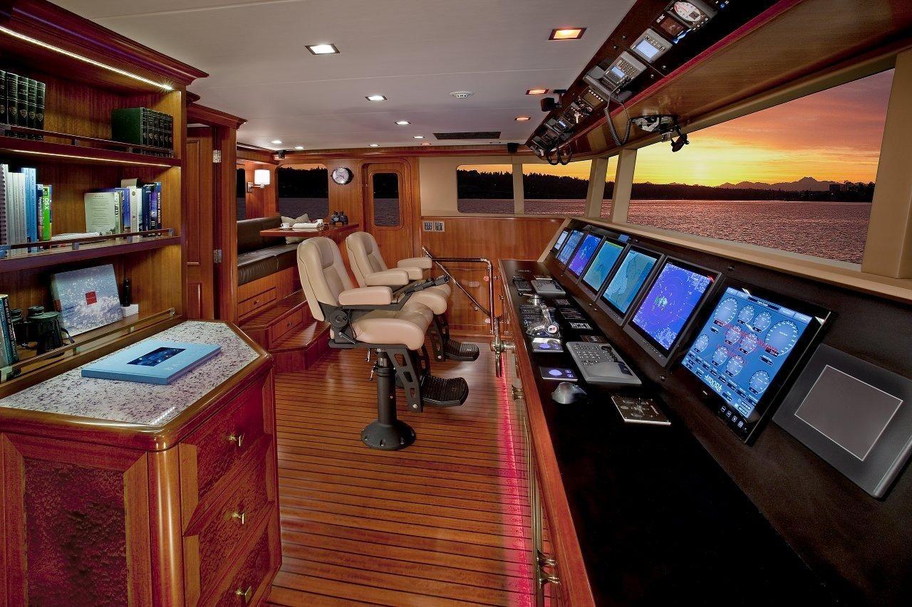 Nordhavn 120-Pilot House-Custom Yacht Interior Design-Destry Darr Designs