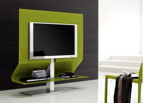 Stylish Modern Tv Stands For Urban Living Rooms Green Modern Tv