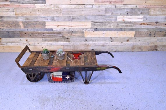 Antique Wood Dolly Reclaimed Dolly Coffee Table By ScoutandForge