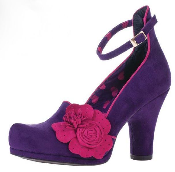 RUBY SHOO DIAZ PURPLE PINK VINTAGE STYLE COURT SHOES HEELS SIZE 4 5 6 7 8