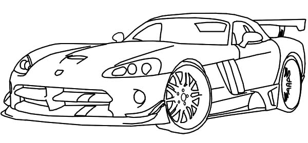 Dodge Race Car Viper Coloring Pages Coloring Sky in 2020