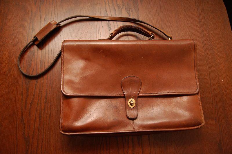 Vintage Coach Briefcase. $100.