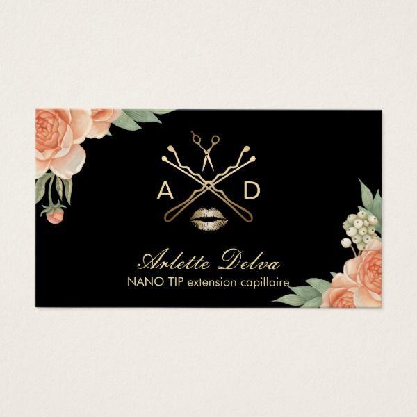 Carte De Visite Maquillage Artiste Hair Styliste Vintage Floral El Zazzle Ca Carte De Visite Cartes De Visite Maquillage Carte D Affaire