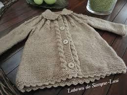 Resultado de imagen de patron para abrigo de bebe 9 meses de lana