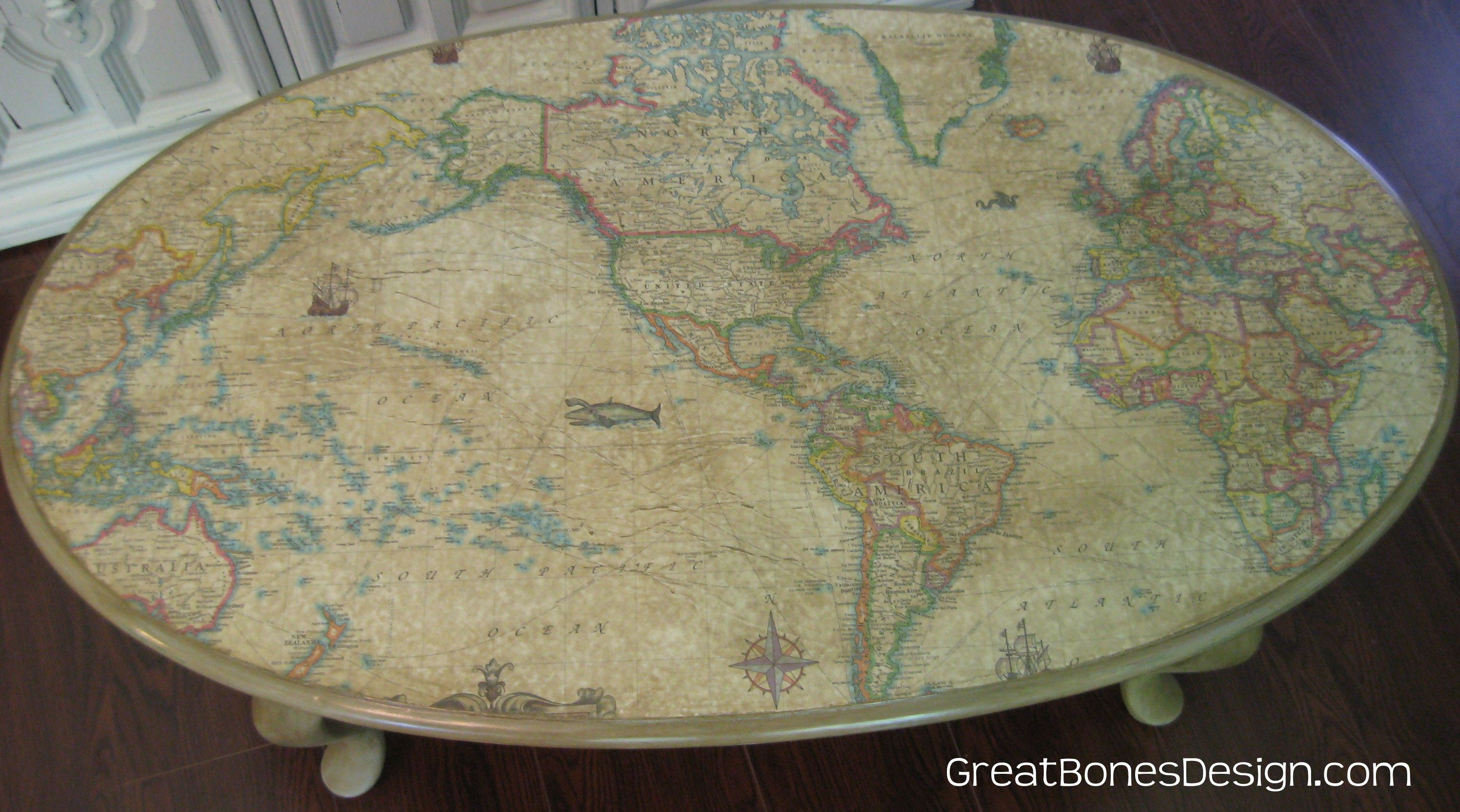 World map coffee table Home Living Room Pinterest