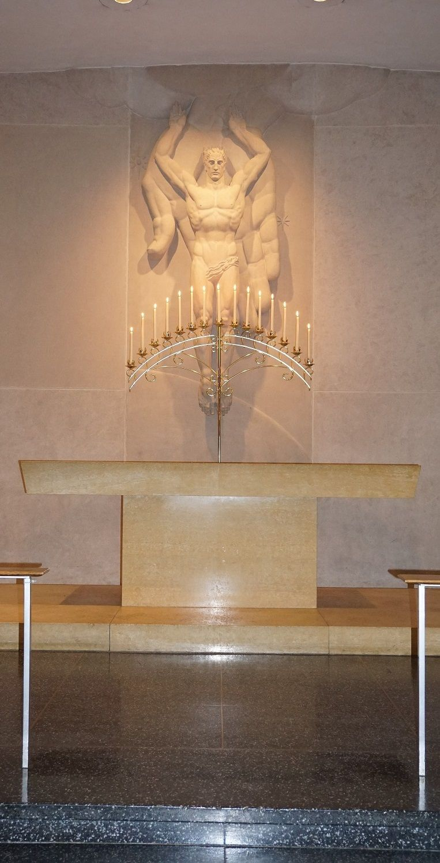 #vtwmc | 15 Candle Candelabrum in Brass | Ivory Candles | War Memorial Chapel