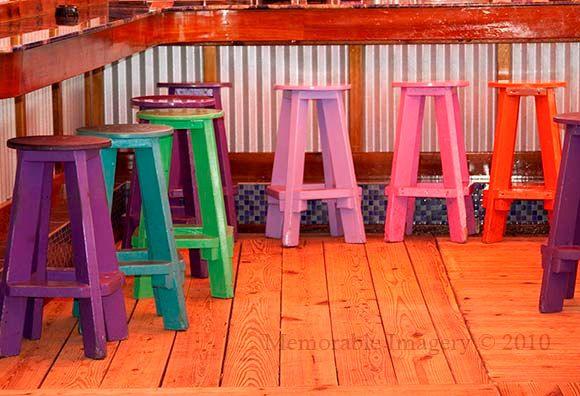 Colorful Wood Bar Seats Colorful Bar Stools Tiki Bar Bar Stools