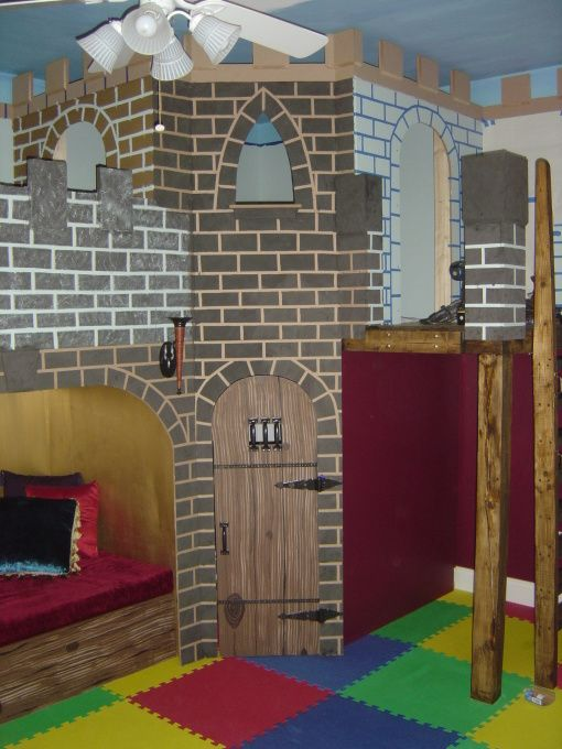Kids Bedroom And Playroom castle playroom, bedroom to playroom conversion. two story castle