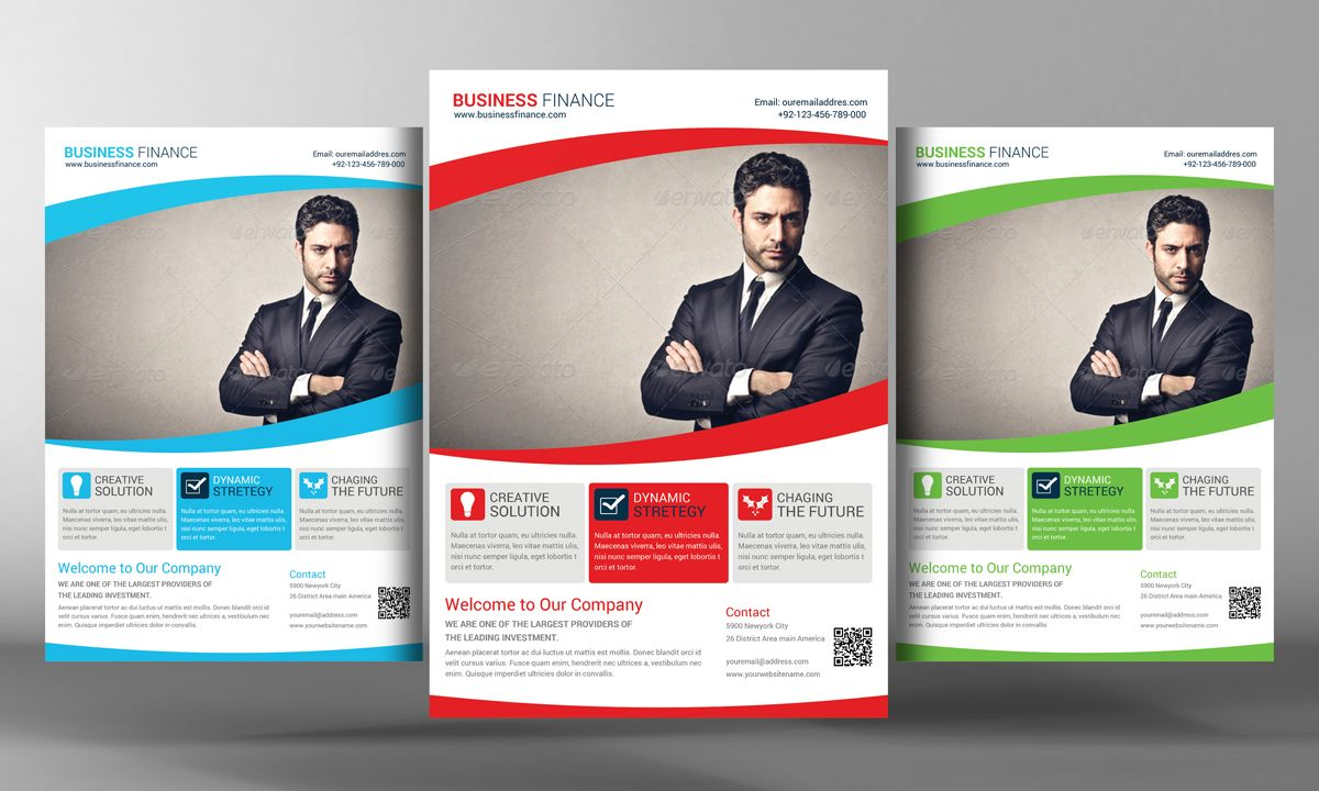 Corporate Business Flyer Template By Business Templates On