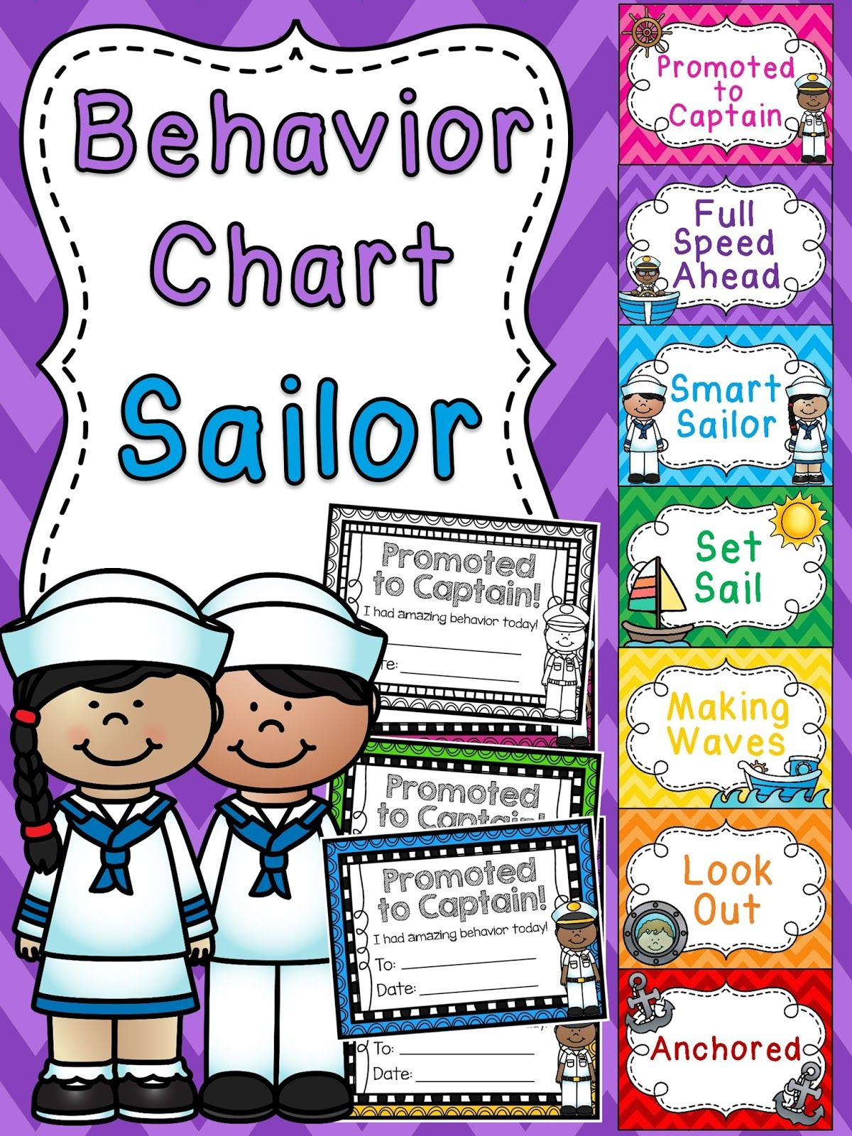 Classroom Management Decor : Sailor behavior chart for nautical theme classroom a bunch