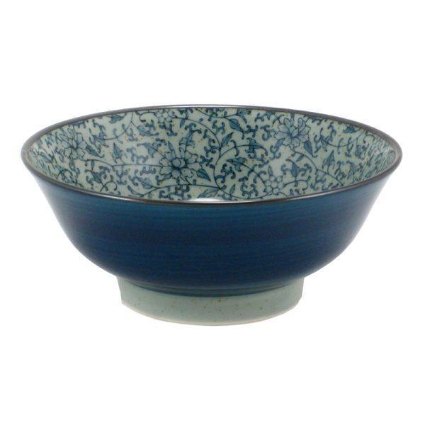 """Japanese 6/""""D Ceramic Noodle Soup Bowl Donburi Blue //Made in Japan"""