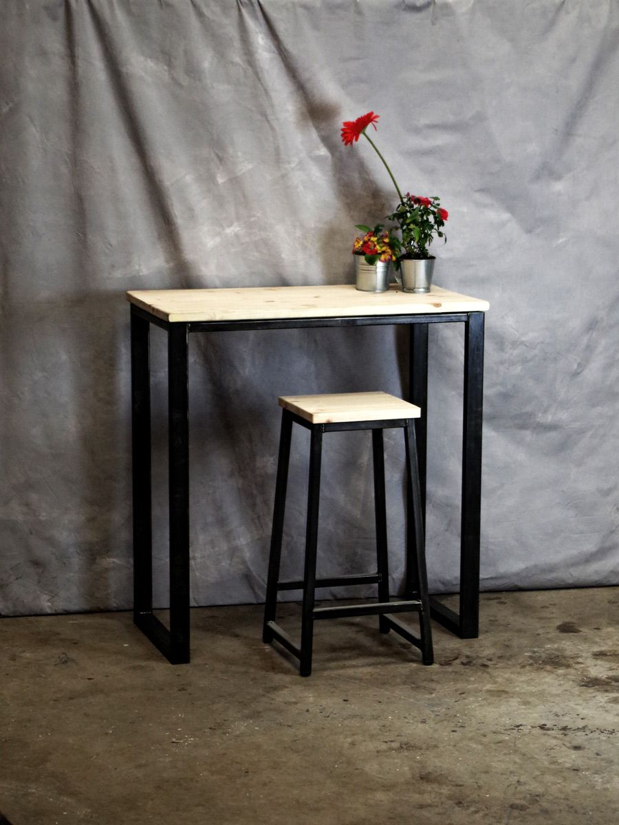 Rustic Style Bar Industrial Style Bar Table This Wood And Metal Bar Table Is