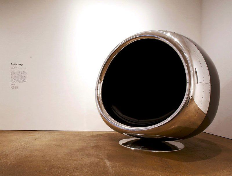 old aircraft parts turned into incredible furniture unique rh pinterest com