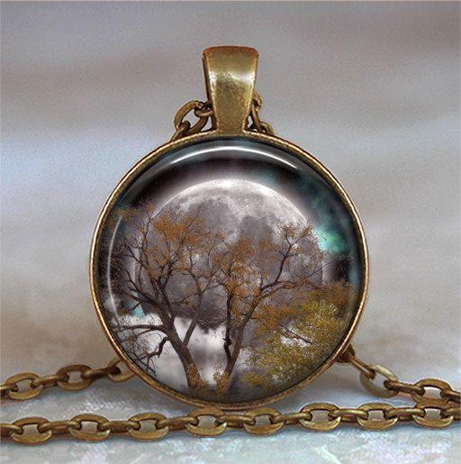 Autumn Equinox pendant, Full Moon pendant Pagan pendant Wiccan jewelry Mabon necklace Wiccan pendant Mabon key chain key ring #maboncelebration