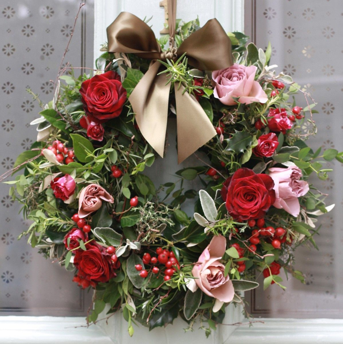 The Real Flower Company Christmas Luxury Antique and Red