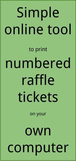 Raffle Ticket Creator Print numbered raffle tickets at home using - numbering tickets in word