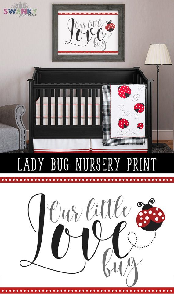 Ladybug Nursery Art Print Bedroom Baby Bedding Ideas And Decor By Syprintables