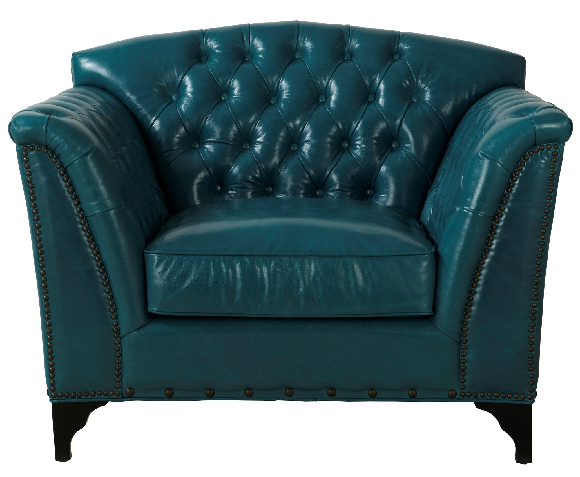 TOV Peacock Leather Club Chair & Reviews Wayfair