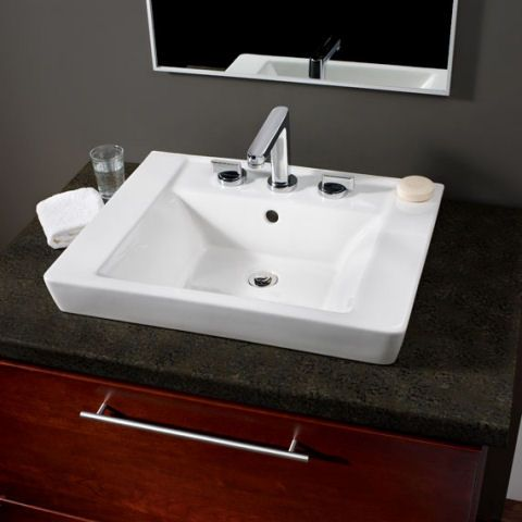 Boulevard Above Countertop Sink 24 W X 19 D 0641 001for Single Hole Alternate Counter Top Sink Bathroom Above Counter Bathroom Sink Top Mount Bathroom Sink