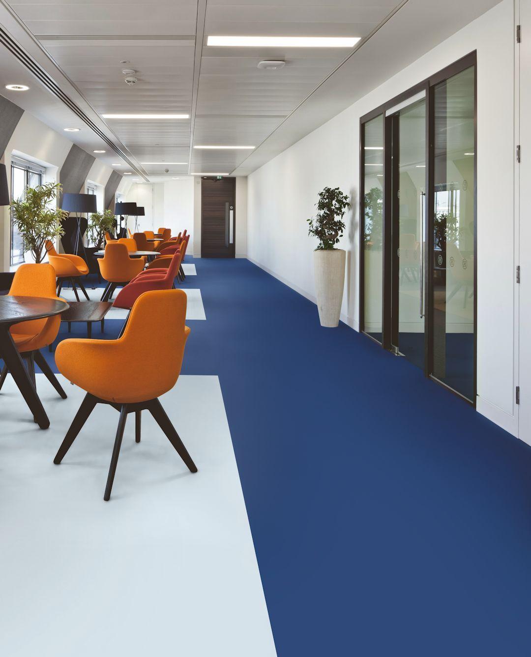 Polyflor Bloc Pur In Marine Blue And Cool Breeze Luxury Vinyl Tile Flexible Tile Vinyl Flooring