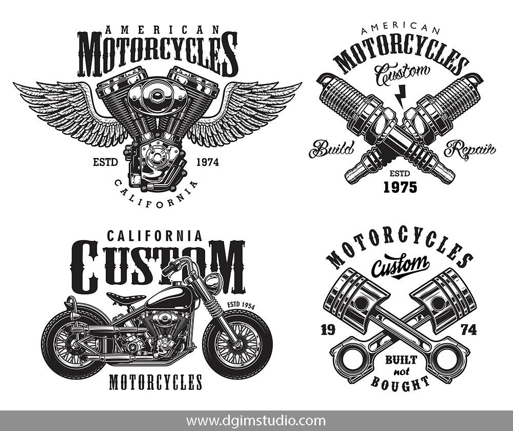 Motorcycle Bundle Motorcycle Logo Unique Poster Custom Badges