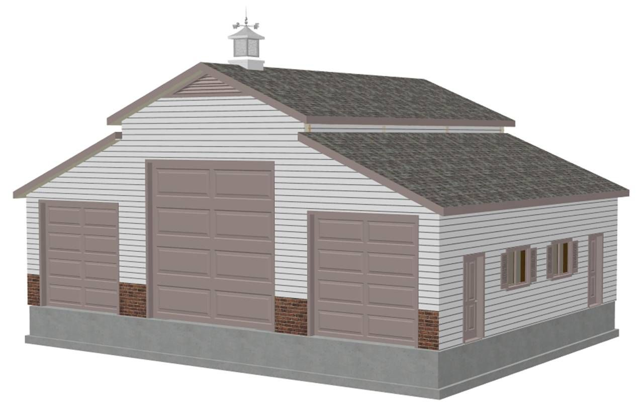 Sasila gambrel roof pole barn plans garage pinterest for Gambrel garage kit