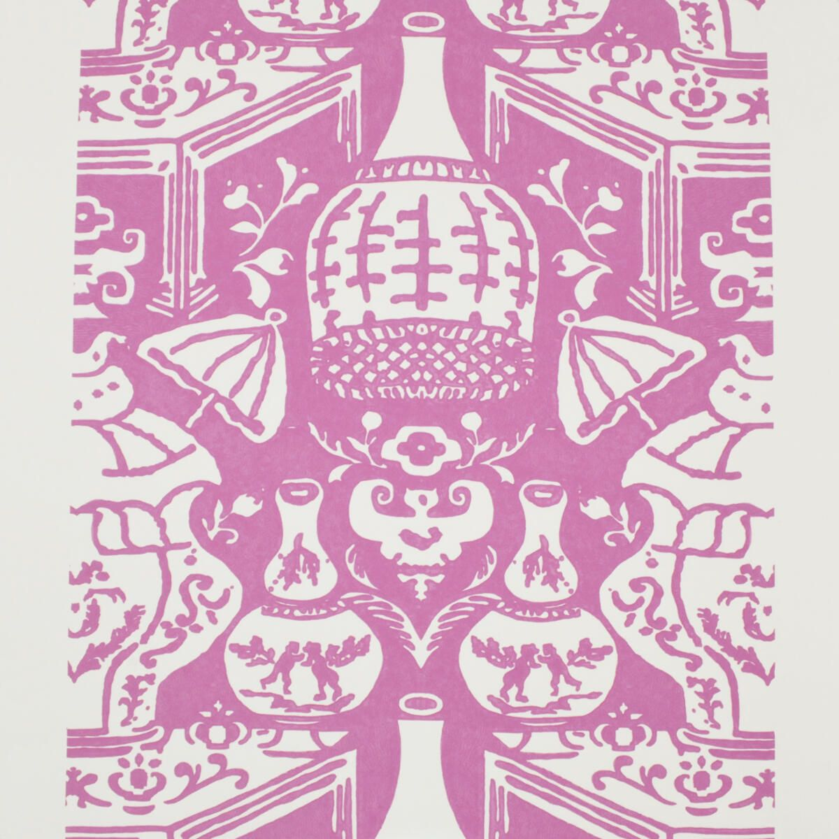 The Vase Hot Pink Wallpaper, Vinyl wallpaper, Cheap
