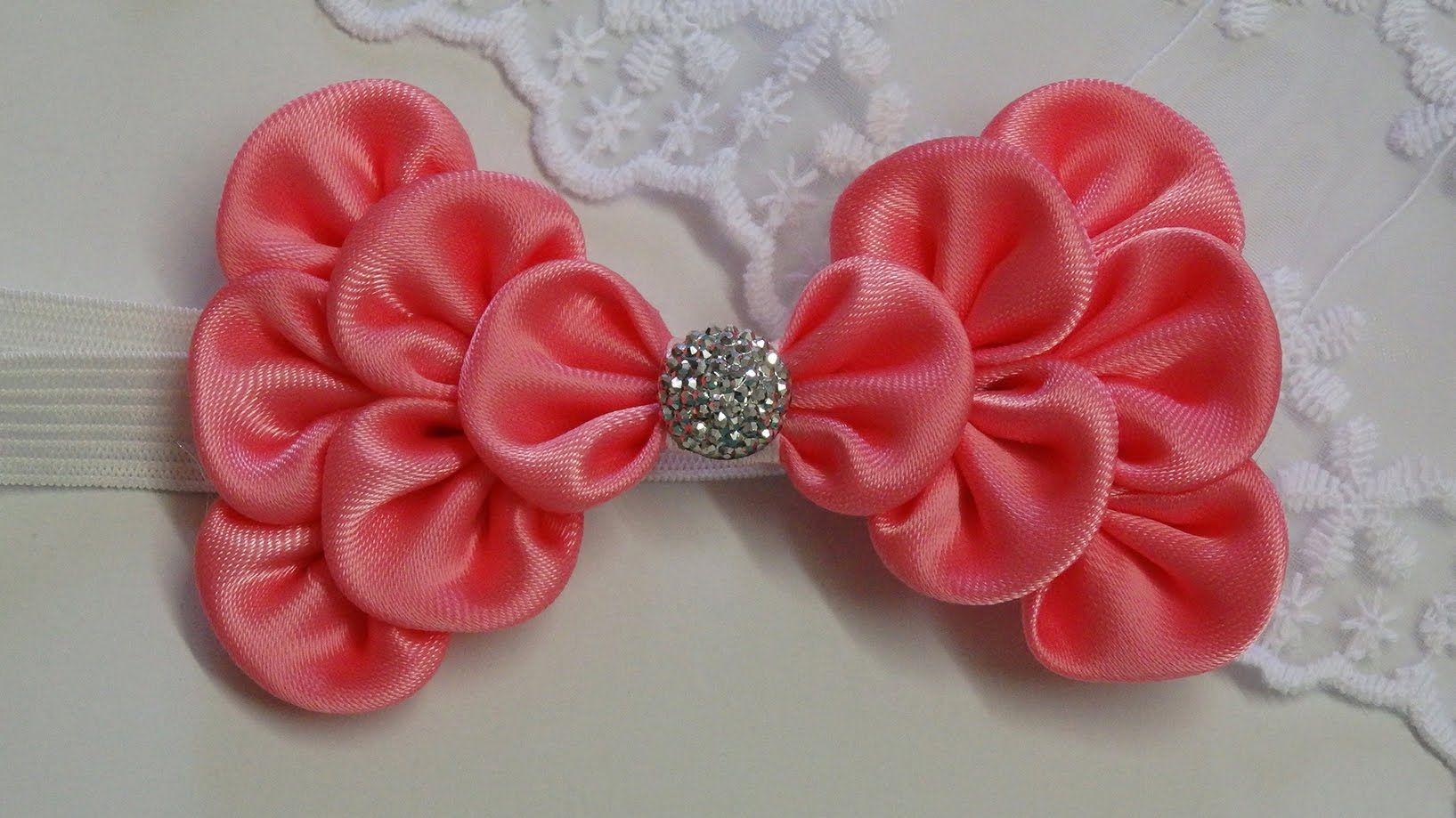 How to make kanzashi hair bowdiy ribbon bowbaby headband how to make kanzashi hair bowdiy ribbon bowbaby headband tutorial baditri Image collections