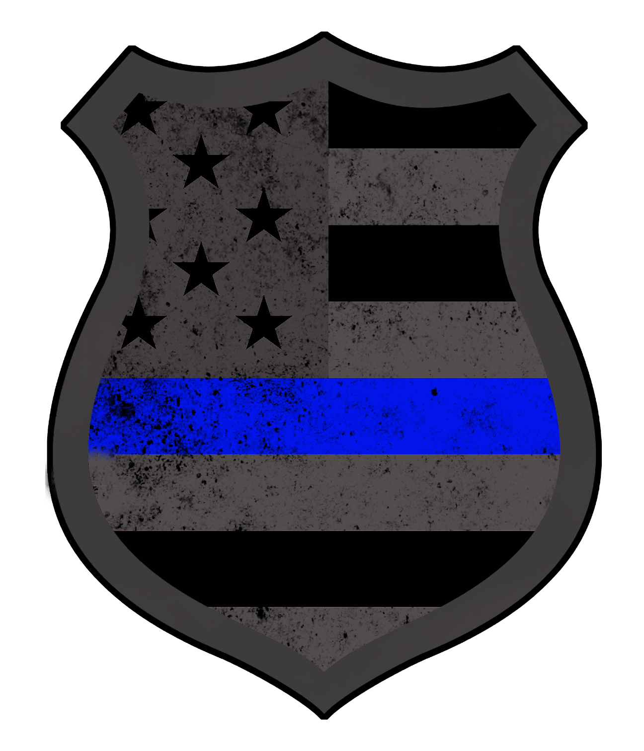 Subdued American Police Decal policequotes Police