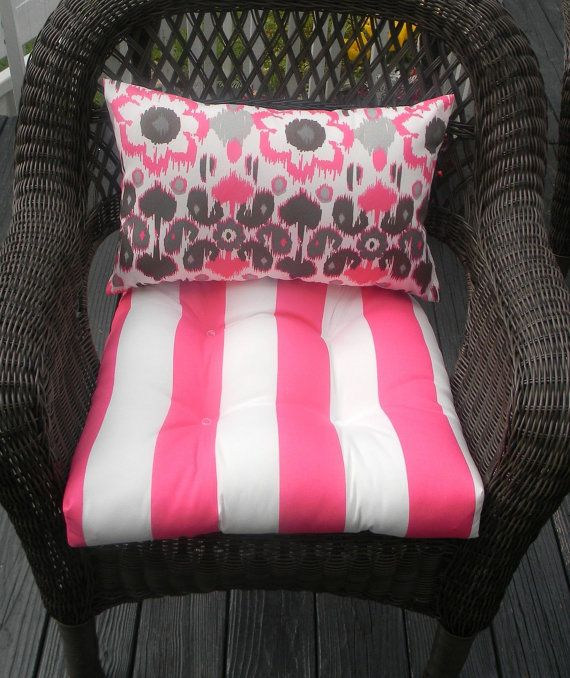 Perfect Indoor / Outdoor Wicker Cushion And By PillowsCushionsOhMy, $44.96. Chair  CushionsHealthy FoodWickerIndoor OutdoorHot Pink