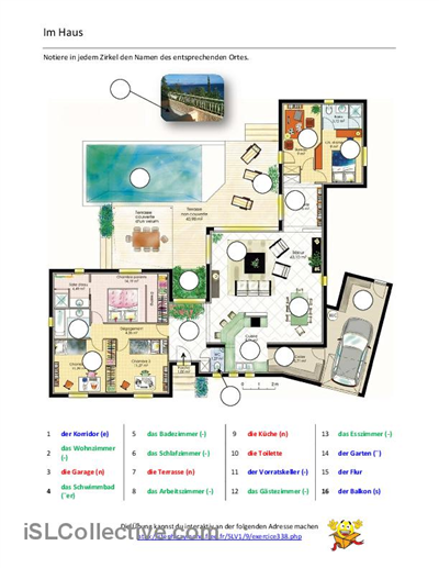 im haus arbeitsblatt kostenlose daf arbeitsbl tter schule pinterest arbeitsbl tter. Black Bedroom Furniture Sets. Home Design Ideas