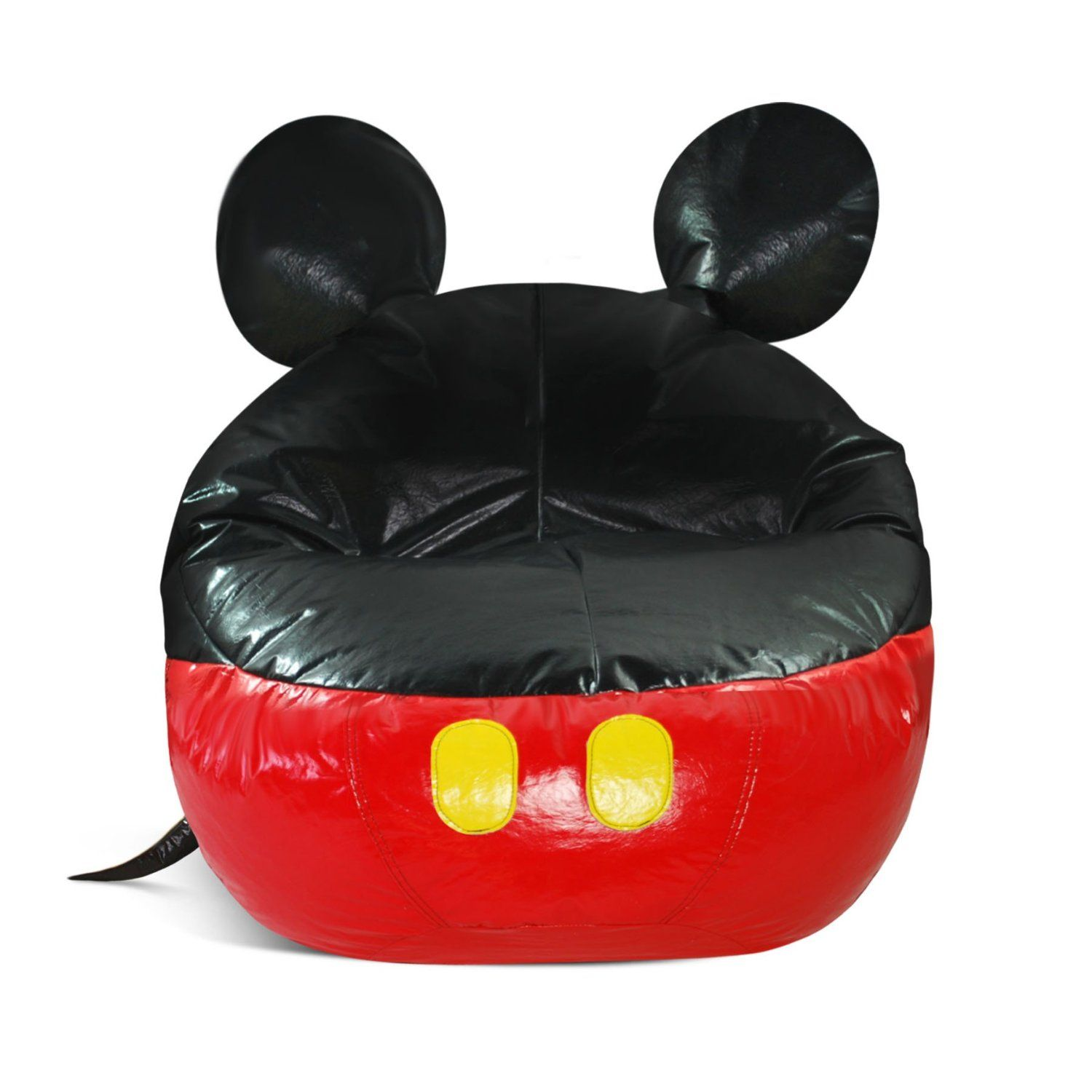 American Furniture Alliance Junior Mickey Mouse Vinyl Bean Bag Cover Chairs