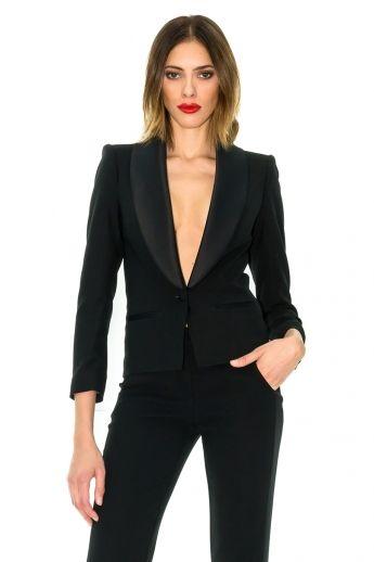 6c1ad336a Veste de smoking pour femme, veste queue de pie - Stefanie Renoma ...