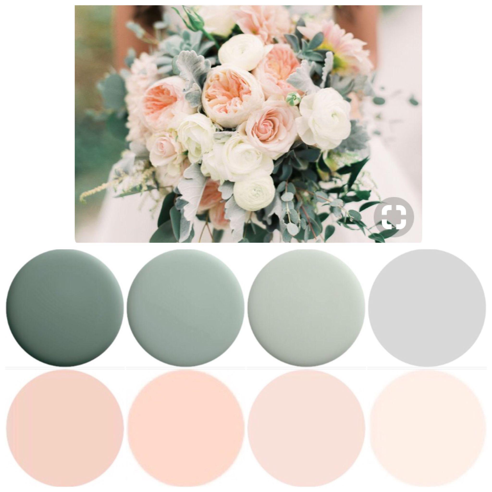 Flower hair pins blush sage green blue peach