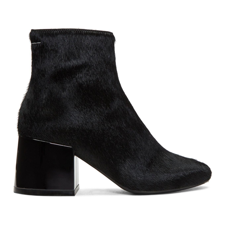 MM6 Maison Martin Margiela Black Pony Boots WYBKOX
