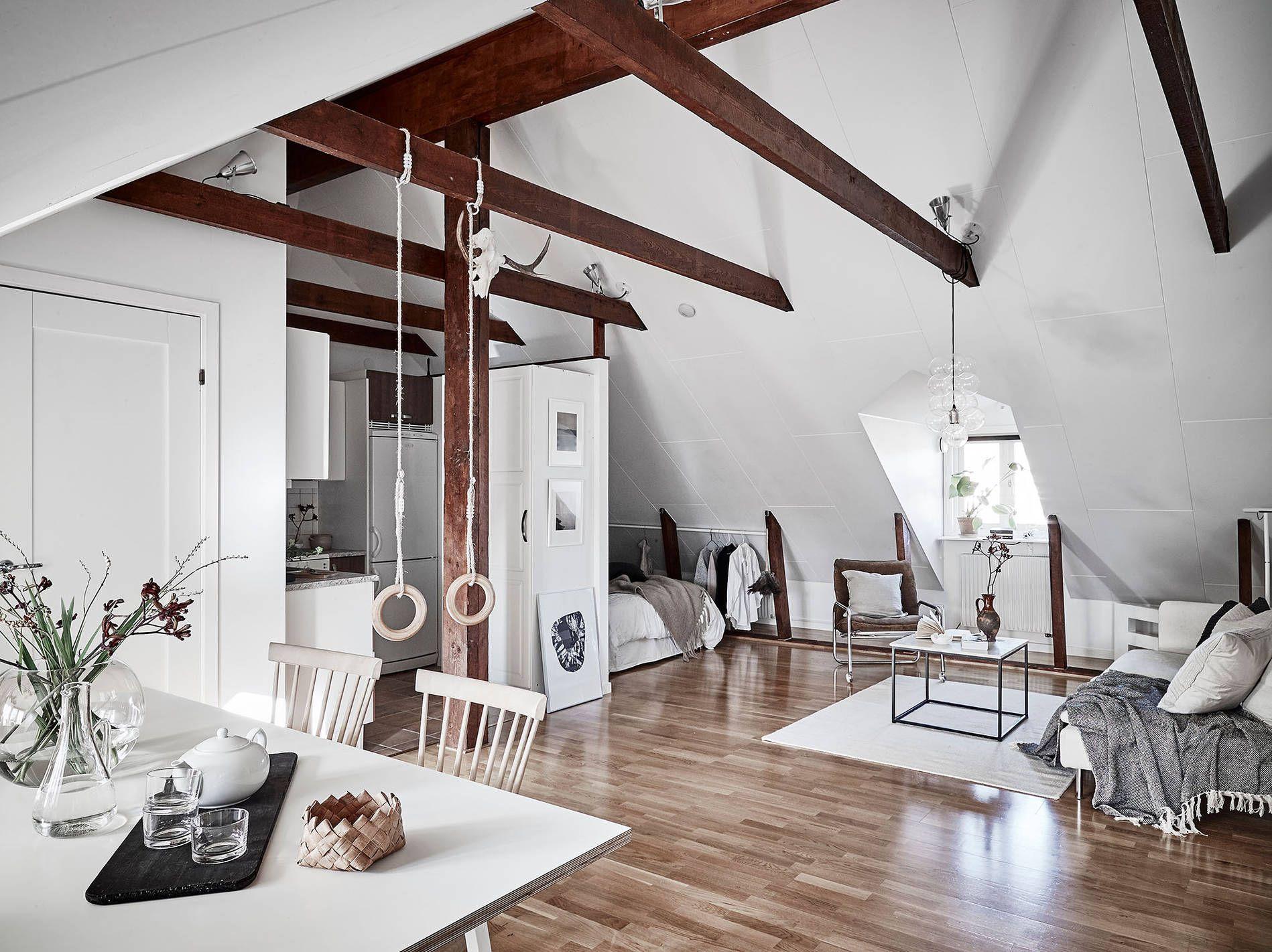 Scandinavian Attic Studio Apartment  48Sqm