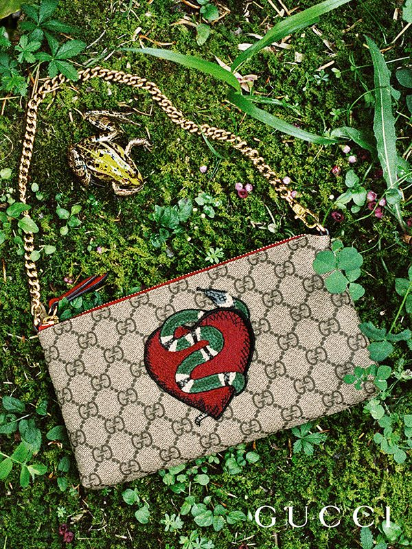 43973306eb79b9 Discover more gifts from the Gucci Garden by Alessandro Michele. A limited  edition GG Supreme mini bag with heart and snake patches.