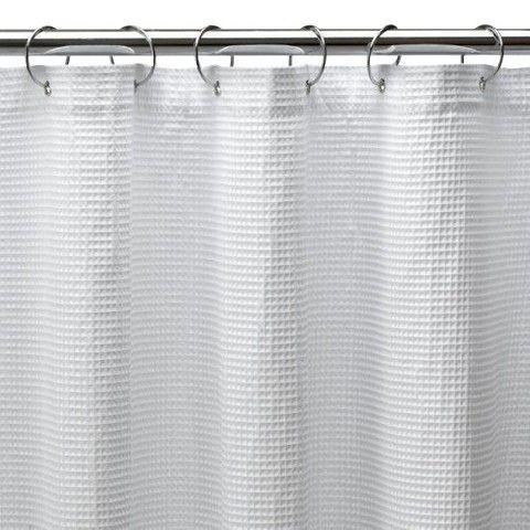 Shower Curtain X Long Waffle White 72x96 Extra Long Shower