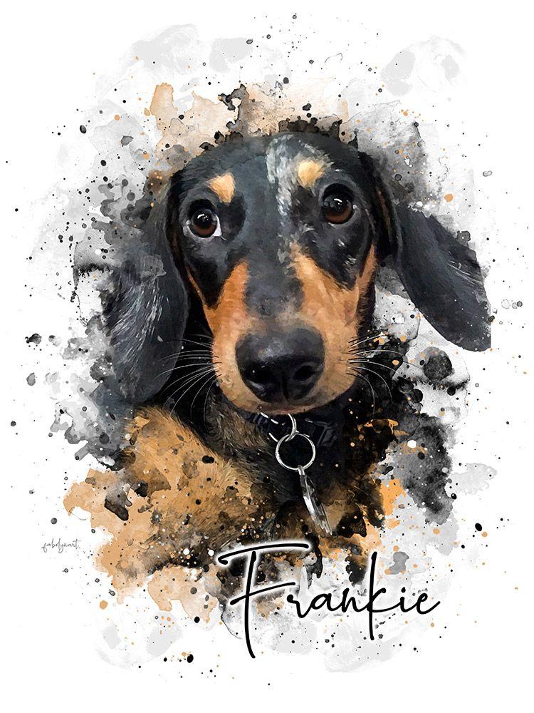 Simple Style Custom Pet Portrait In 2020 Pet Portraits Dog