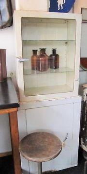 Industrieel Ziekenhuis Vitrine Kastje Antiek Meubels