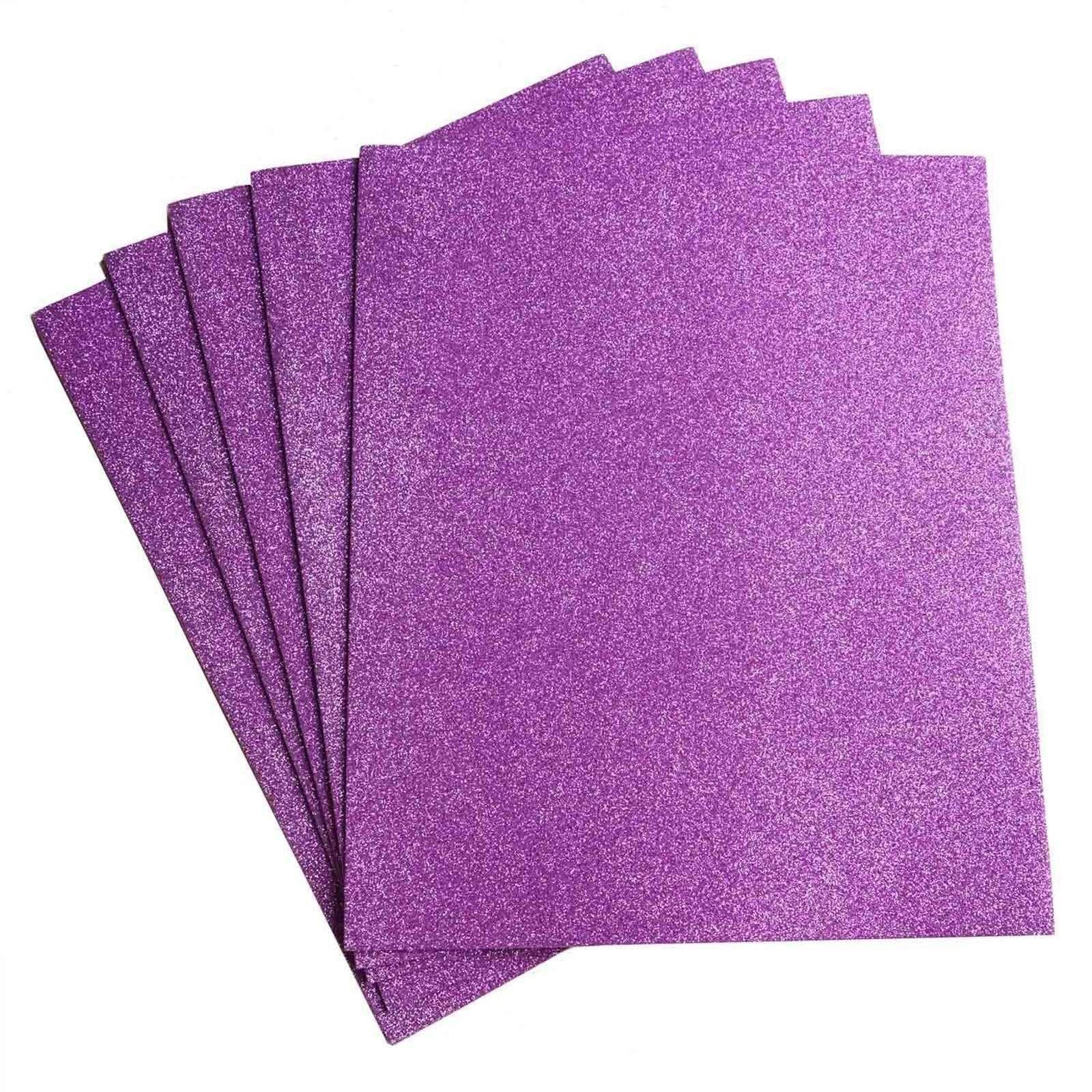 "10 Pack 12"" Lavender UltraGlitter Foam Single Color DIY"
