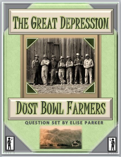 Get down and dirty, or at least dusty, with this fun and engaging Great Depression Worksheet zeroing in on the Dust Bowl and the plight of the American Farmer in the wake of World War I. Designed for teacher convenience, this Dust Bowl Worksheets set includes both reusable and consumable versions of all student materials.