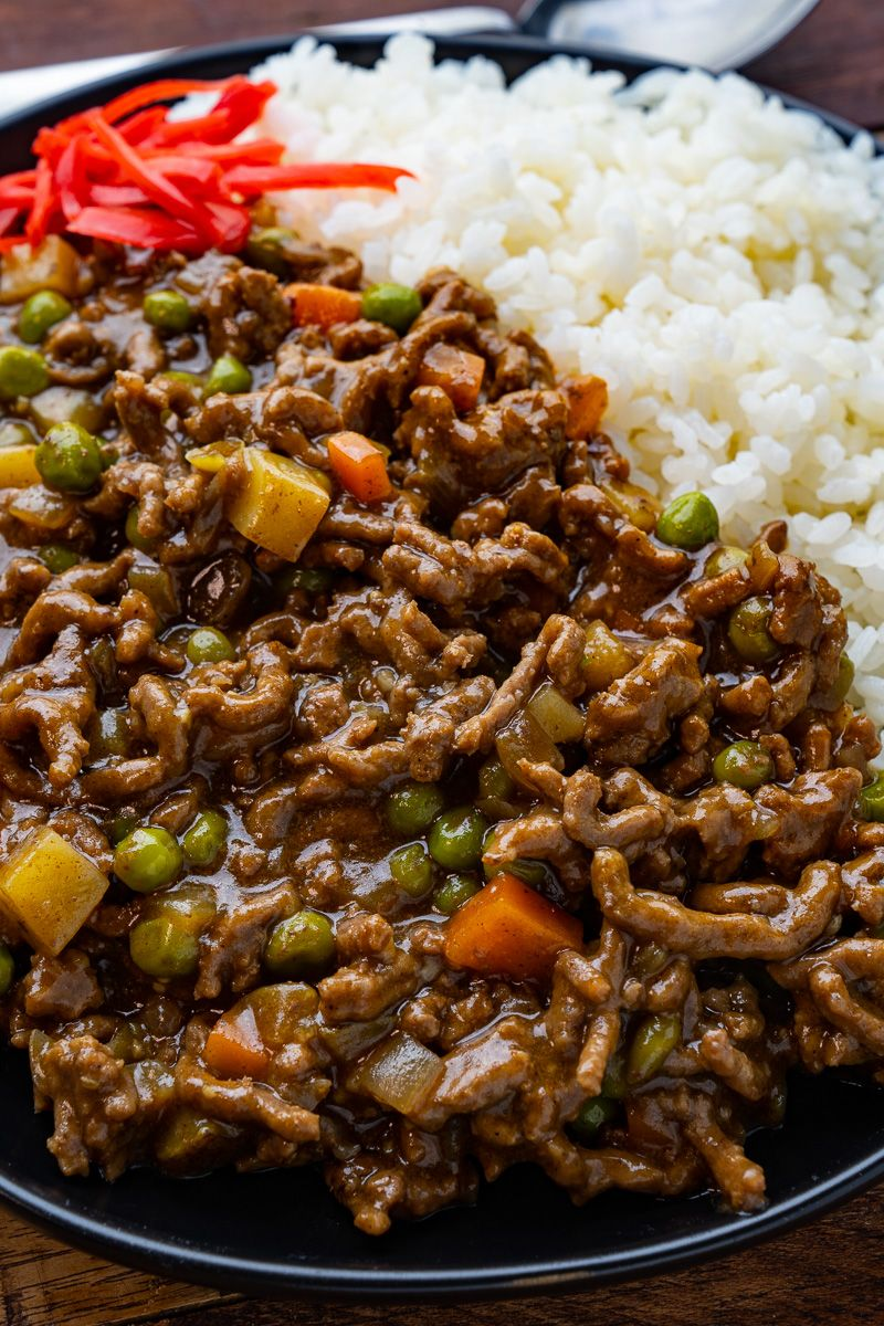 Japanese Dry Curry Recipe In 2020 Curry Asian Cooking Ground Beef
