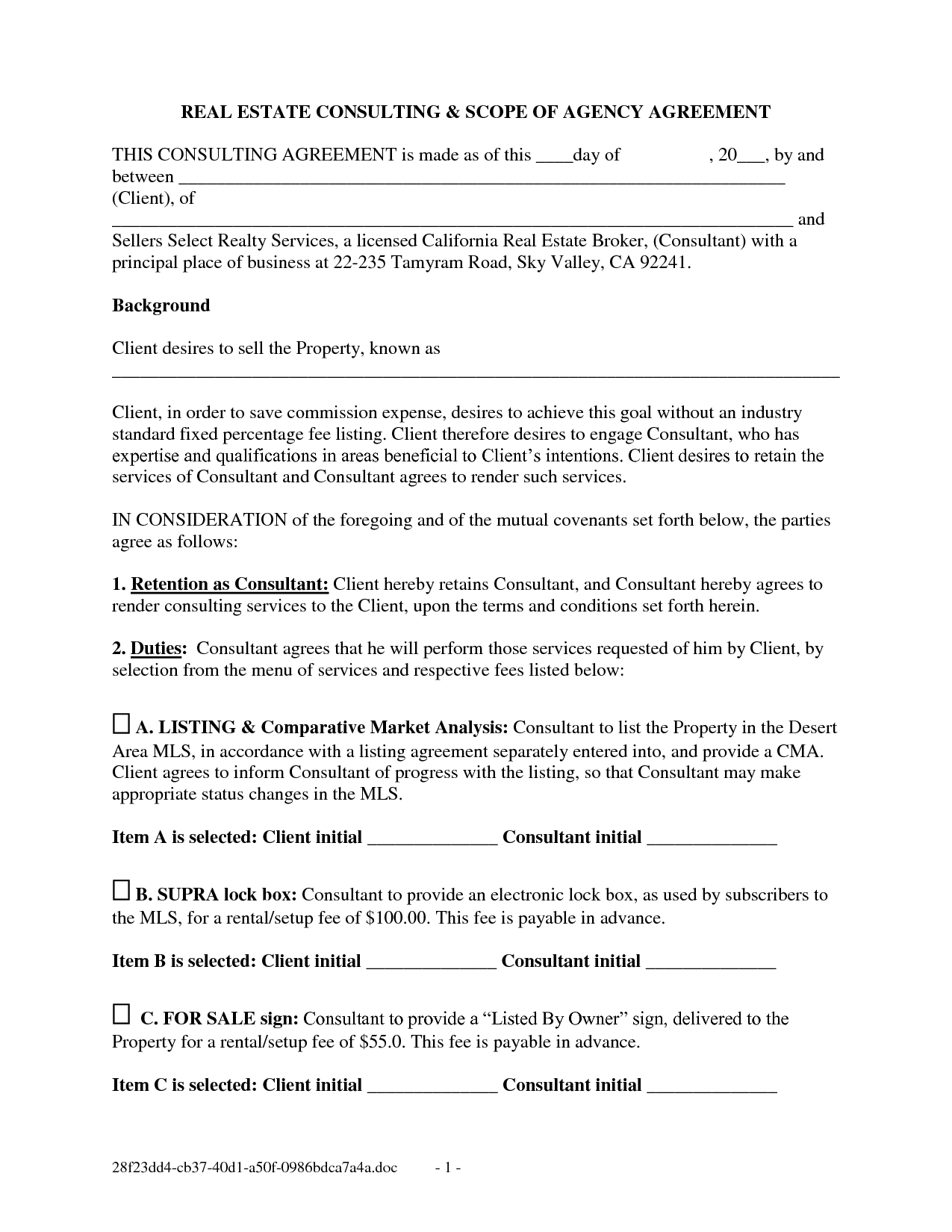 Free Real Estate Forms Purchase And Sale Agreement  Doc By
