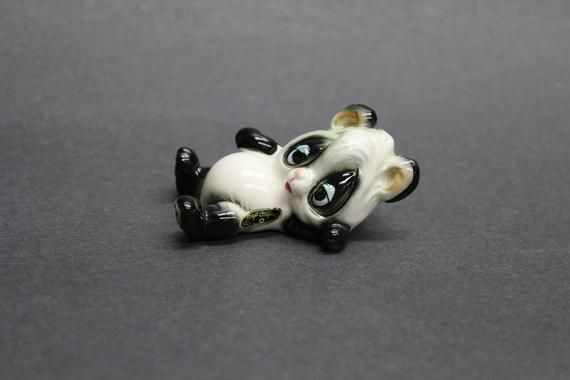 Vintage Josef Originals Sleepy Baby Panda Bear Figurine (V113)