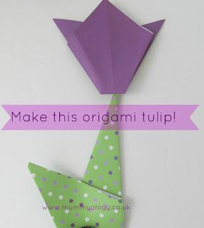 Make this simple #origami #tulip for #spring! {The Usual Mayhem on Mummyology}