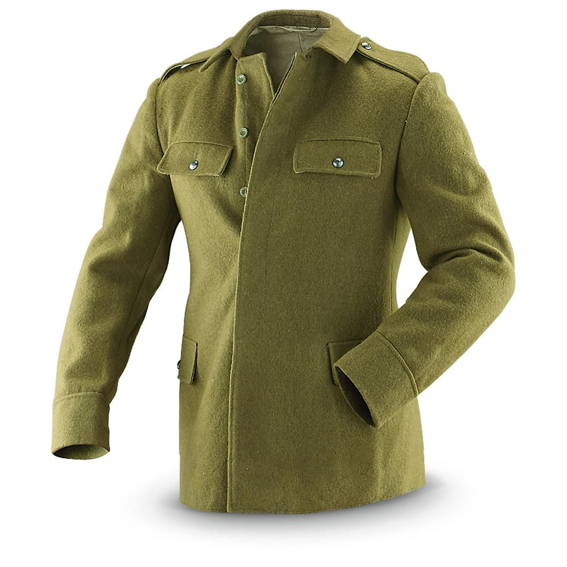 Used Romanian Military Wool Field Jacket | Men's Fashion ...