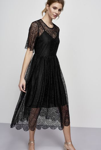 ff92be2d388 Y.A.S Tall Amina Lace Overlay Dress