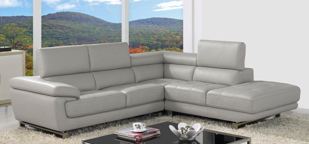Valencia Taupe Grey Leather Corner Sofa Right Hand Facing In 2020 Leather Corner Sofa Grey Leather Corner Sofa Leather Sofa